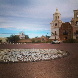 Crosses at San Xavier